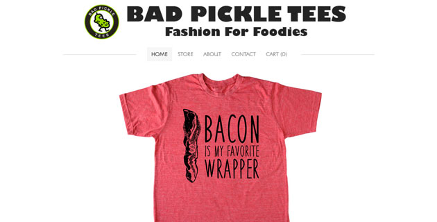 Bad Pickle Tees homepage