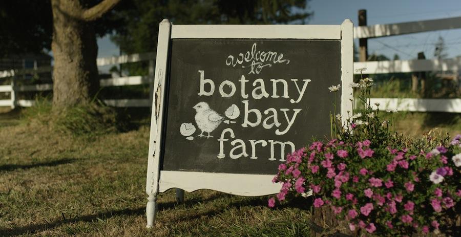 Botany Bay Farm Chalk Sign