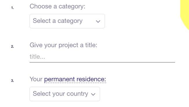 Create Your Kickstarter Project