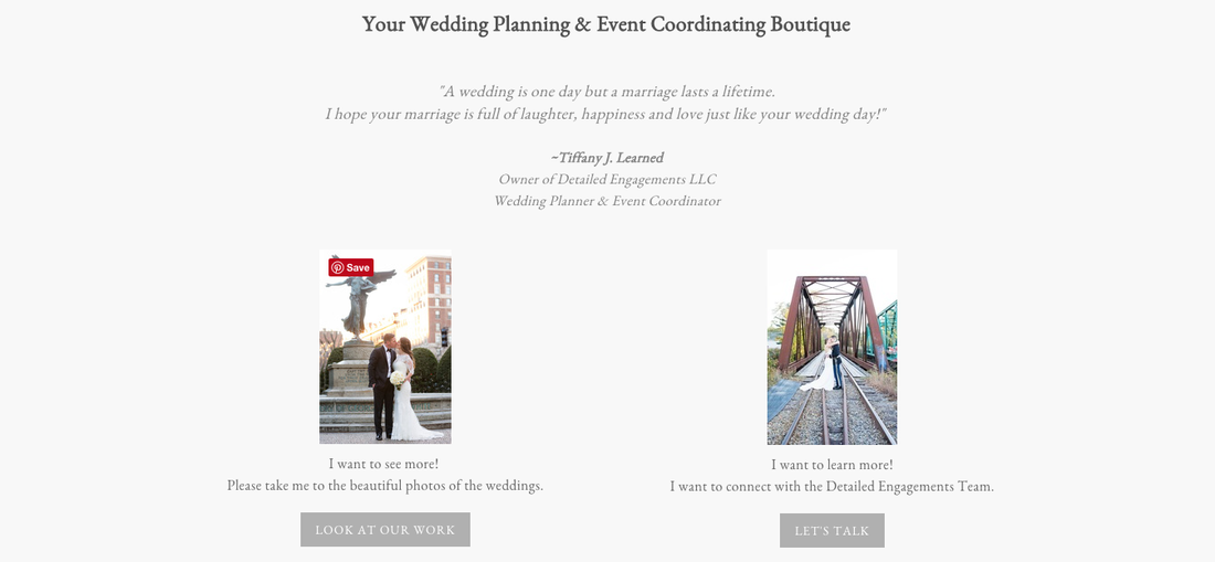 Detailed Engagements Weebly Website