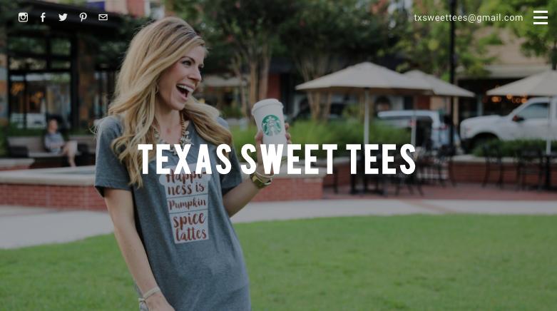Homepage of Texas Sweet Tees