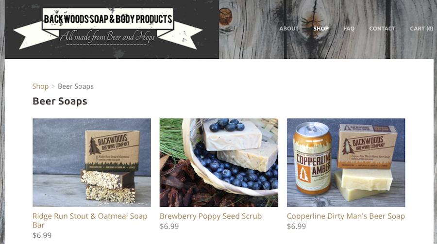 Image of Backwoods Soap Website