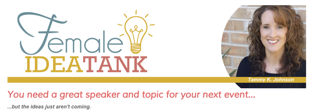 Image of Female Idea Tank Utilizing Public Speaking