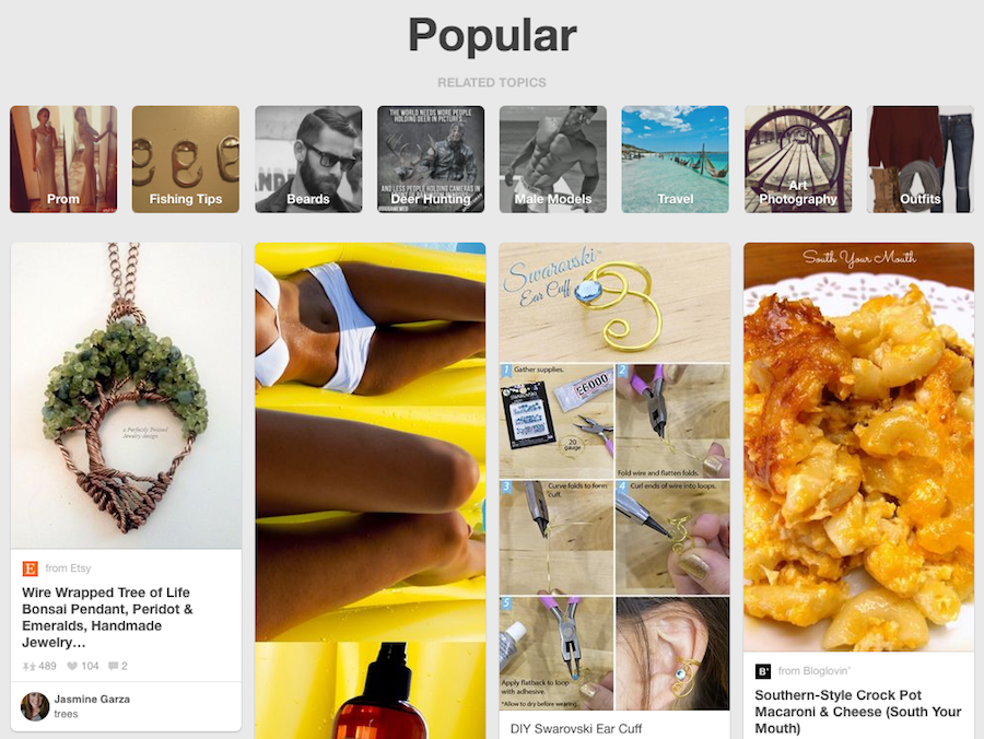 Image of Popular Section on Pinterest