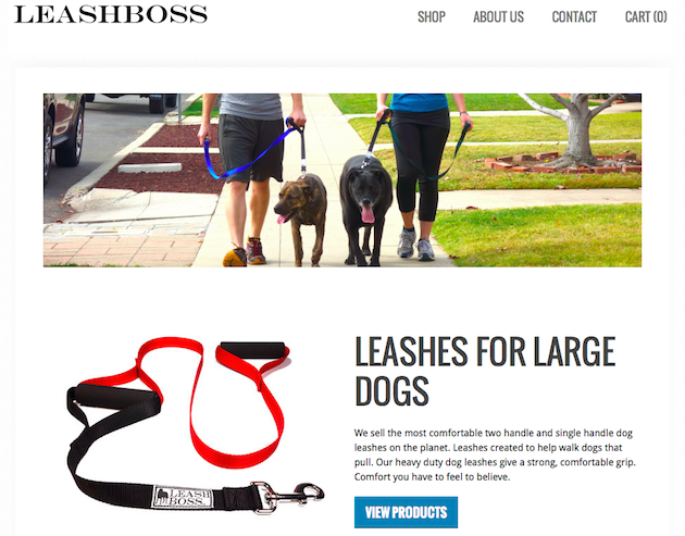 Leashboss product page