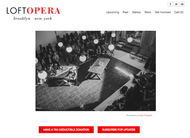 Loft Opera homepage