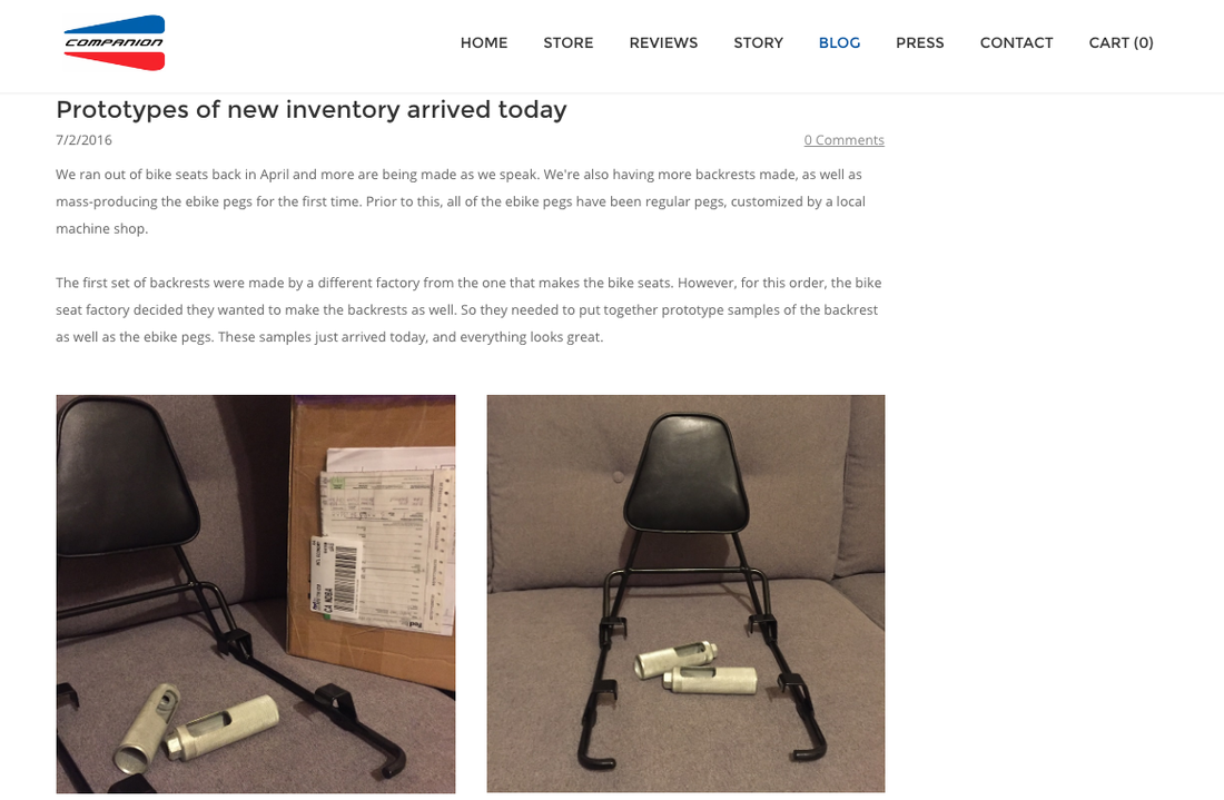 The Bike Seat Weebly Website