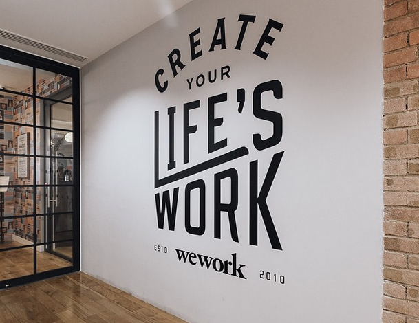 WeWork Motto on Wall