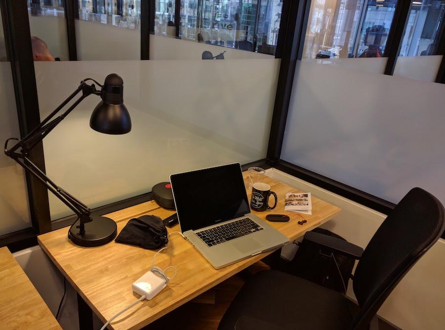 WeWork hot desk