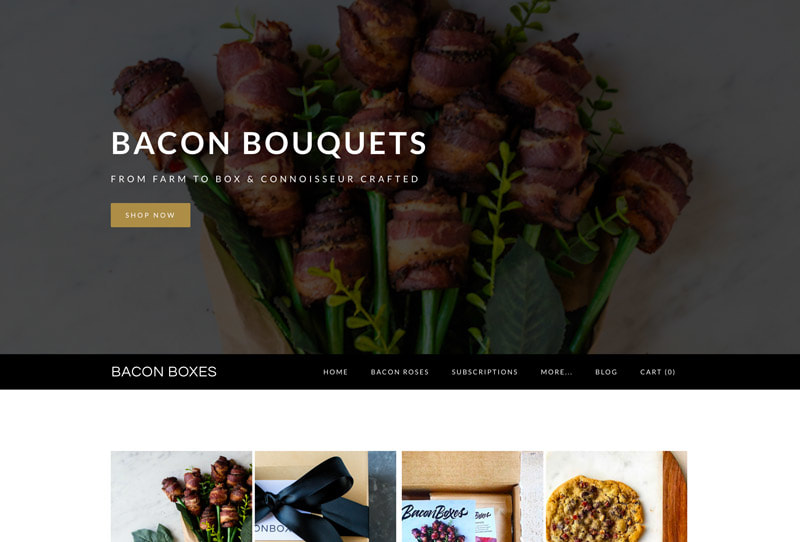 Bouquets of bacon flowers