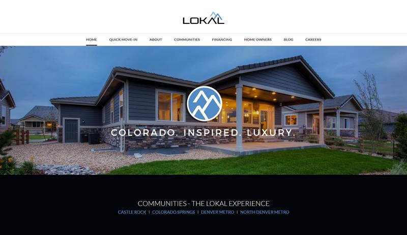 Lokal Homes mobile homepage