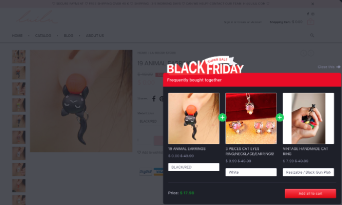 Black Friday offer with Boost Sales app