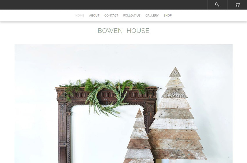 Animations on Bowen House Website