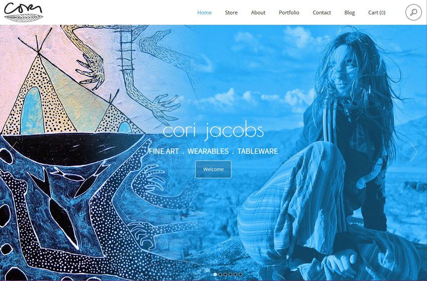 Cori Jacobs Bold Color on Website