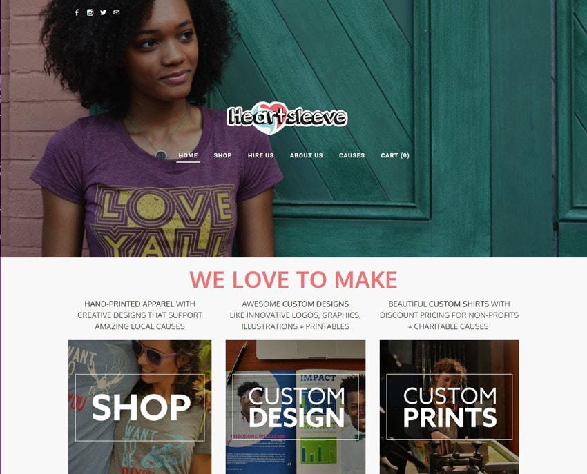HeartSleeve Geometric Elements on Website