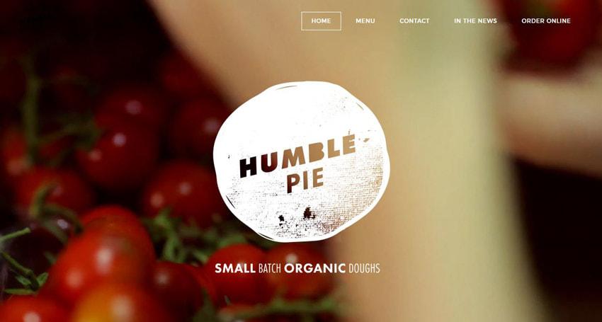 Humble Pie 3D Concepts on Website