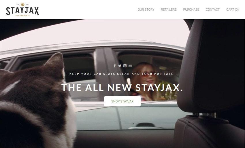 StayJax Video Background on Website