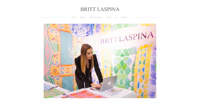 Colorful website banner featuring a woman