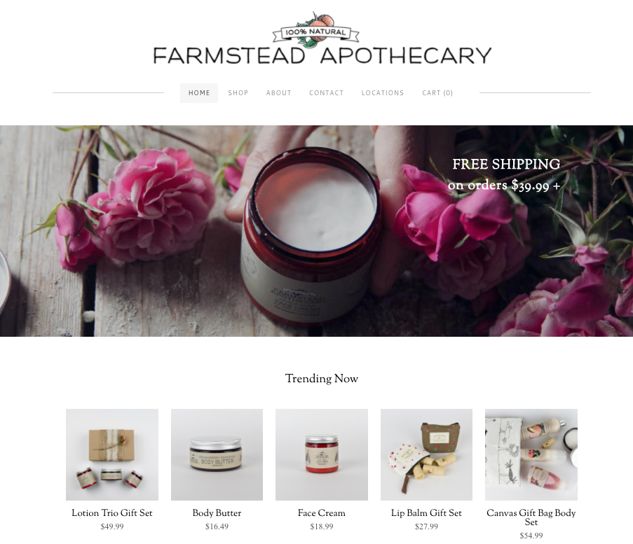 Farmstead Apothecary Homepage