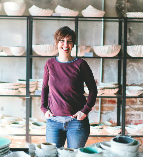 Heather Knight in her studio